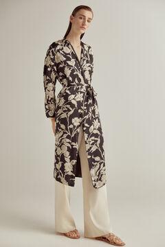 Pedro del Hierro Reversible printed kimono Grey
