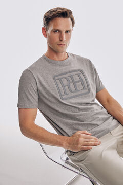 Pedro del Hierro Logo short sleeve t-shirt Grey