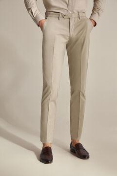 Pedro del Hierro Pantalón chino algodón Pima Beige