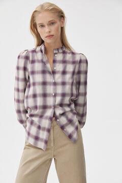 Pedro del Hierro Checked fabric blouse Pink