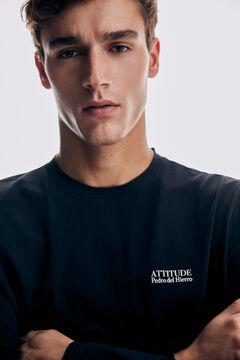 Pedro del Hierro Long-sleeved T-shirt Blue