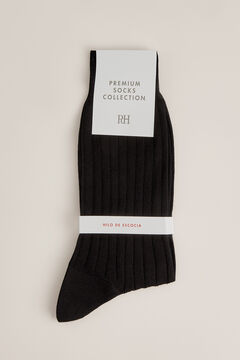 Pedro del Hierro Plain dress socks Black