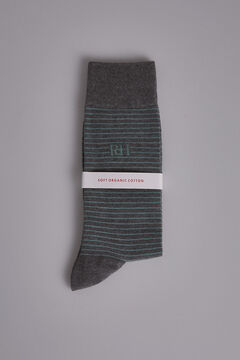 Pedro del Hierro Striped socks Green