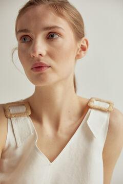 Pedro del Hierro Tunic dress with buckles White