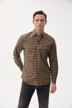 Pedro del Hierro Checked shirt Beige