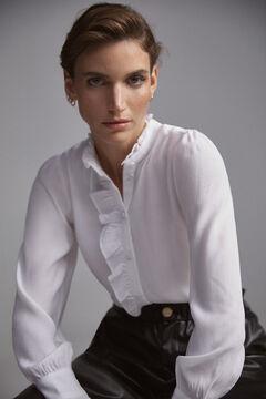 Pedro del Hierro Flounced blouse Beige