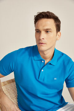 Pedro del Hierro Essential short-sleeved polo shirt Blue