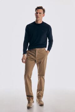 Pedro del Hierro Pantalón chino Premium Flex Classic Beige