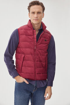 Pedro del Hierro Ultralight quilted gilet Red