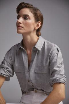 Pedro del Hierro Viscose vyella shirt. Grey