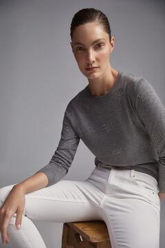 Pedro del Hierro Studded logo jumper Grey