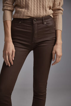 Pedro del Hierro Leather push up effect Brown