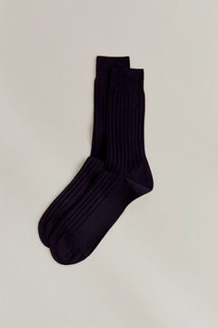 Pedro del Hierro Plain dress socks Blue