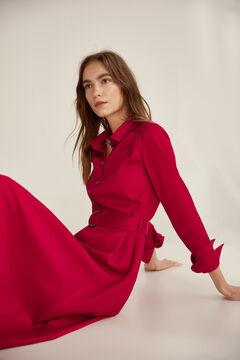 Pedro del Hierro Vestido camisero Rojo