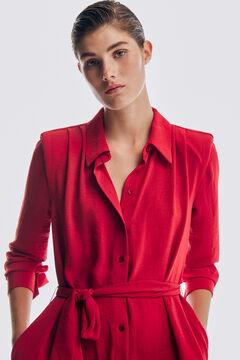 Pedro del Hierro Shoulder pads shirt dress Red