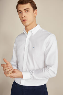 Pedro del Hierro Plain Tech Non-Iron cotton shirt White