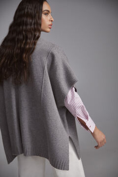 Pedro del Hierro Mock turtleneck poncho Grey