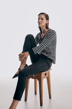 Pedro del Hierro Skinny fit rubber-effect jeans Black