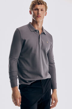 Pedro del Hierro Long-sleeved polo shirt Grey