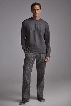 Pedro del Hierro Pijama cuadros Grey