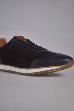 Pedro del Hierro Sneaker slip with rubber floor Blue