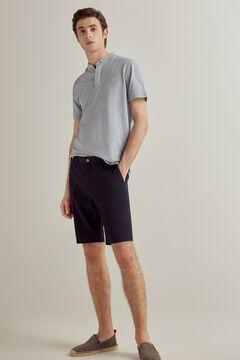 Polo shirt and textured bermuda shorts set