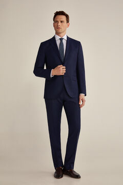 Tailored fit navy blue suit set