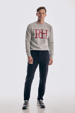 Logo sweatshirt and chino trousers set