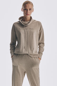 Knitted sweatshirt, jogging trousers and chunky sneakers set