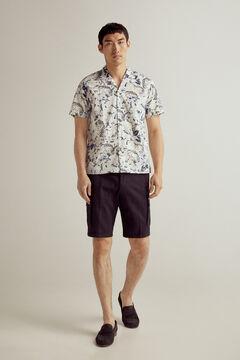 Set of printed shirt and cargo shorts
