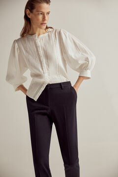 Slim blouse and trousers set