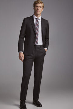 Tailored fit grey suit set