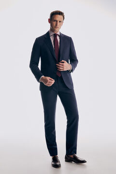Striped tailored fit suit set
