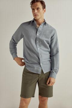 Linen shirt and linen shorts set