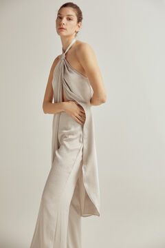 Long knotted blouse and flare pants set