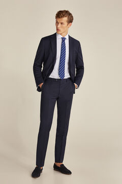 Tailored fit blue striped suit