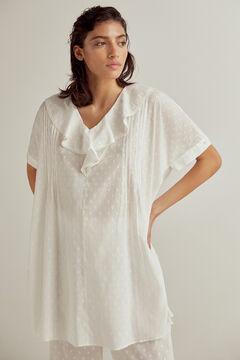 Conjunto de camisola y pantalón de plumeti