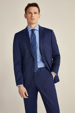 Tailored fit suit set in blue tones