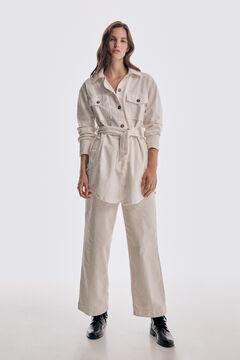 Corduroy overshirt and corduroy trousers set