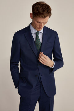 Slim fit blue squared suit set
