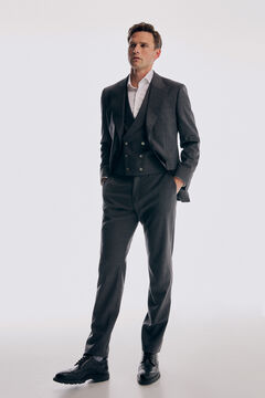Tailored grey suit