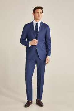 Slim fit suit in greyish blue tone