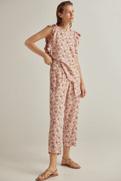 Printed top and trousers set