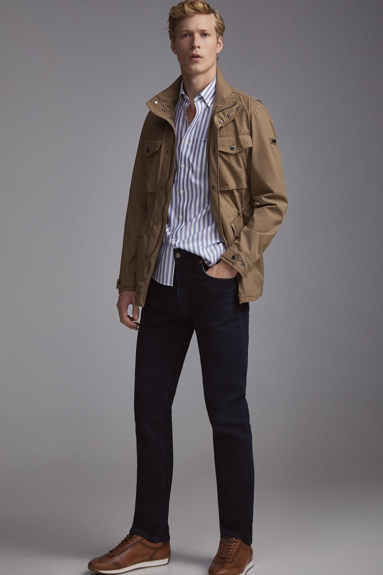 Jeans premium tato caxemira slim lavagem sobretingida. | Jeans | Pedro del HierroBack ButtonFilter Button