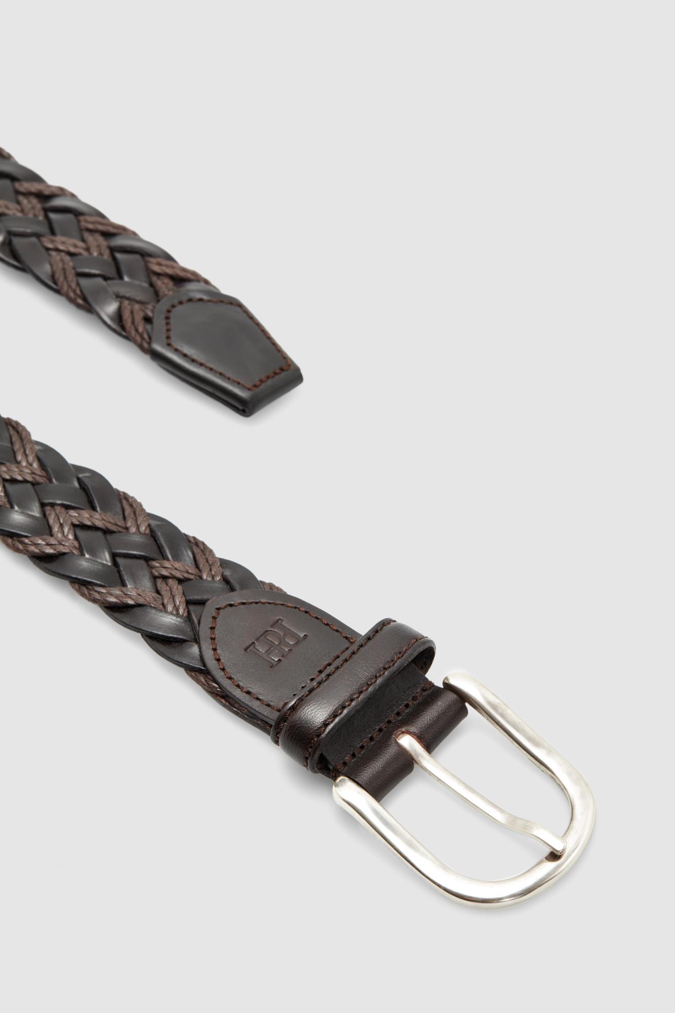 Cinturón trenzado piel cuerda  651f2544d561